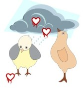 Heartbleed logos and chickens