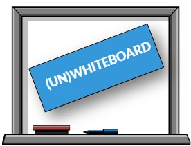 Whiteboard with UnWhiteboard logo